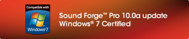 Sound Forge Pro 10.0a update Windows 7 Certified