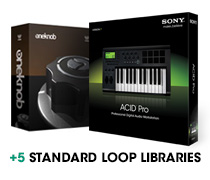 ACID Pro, Waves One Knob, and 5 Standard Loop Libraries