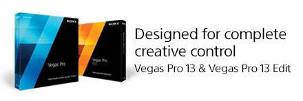Vegas Pro: Video, audio, and Blu-ray Disc creation.