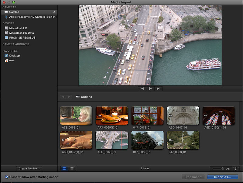 Import/convert sony xdcam files to imovie for editing with aic codec.