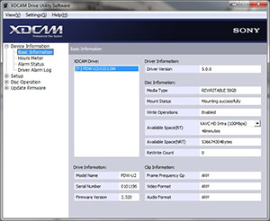 Sony Creative Software - XDCAM Drive Software
