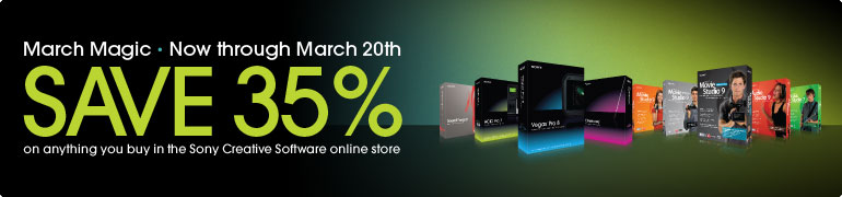 Save 35% through March 20 on Sony Media Software