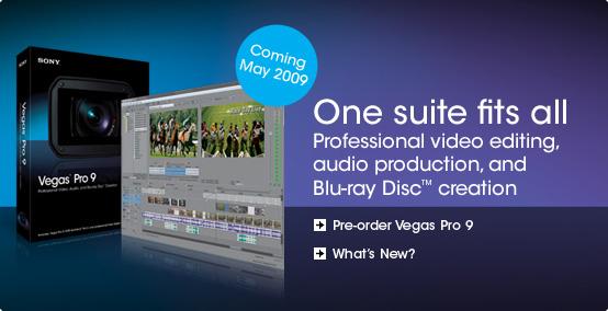 عملاق في تحرير و تقطيع الفيديو واضافة 190 تأثير جميل لافلامك Sony Vegas Pro 9