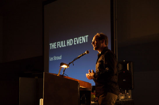 Les Stroud speaks at the Full HD Event