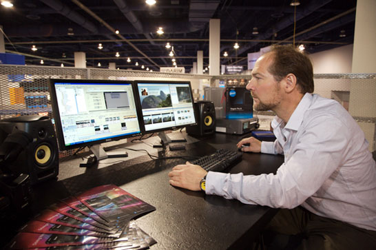 Les Stroud Vegas Pro editing session