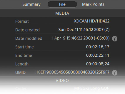View and edit metadata