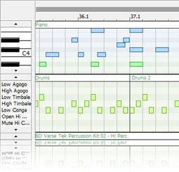 ACID Music Studio Midi Editing