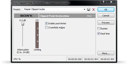 Save recorded track with clipped peaks.