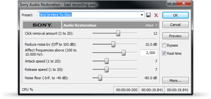 Restore older recordings by filtering out unwanted sounds.