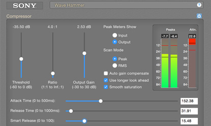 Wave Hammer Audio Compressor Audio Limiter