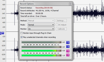 One-touch recording