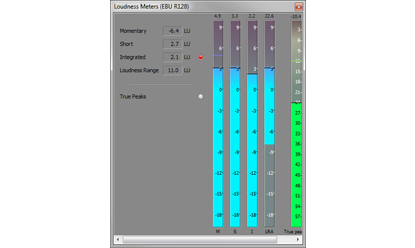 New! Loudness meters