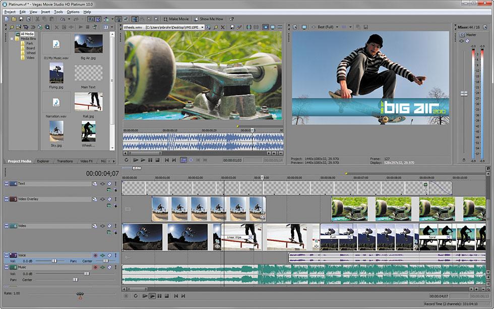 برنامج التعديل على الفيديو العملاق Sony Vegas Movie Studio Full HD Platinum اخر اصدار