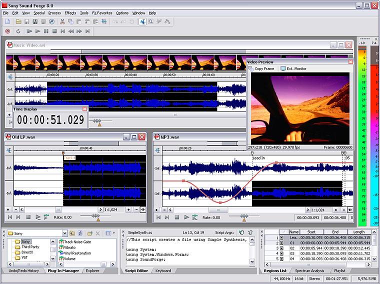 Sound forge 10 - это популярный аудио редактор от компании sony. . Вы може
