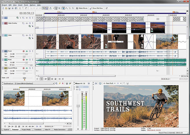 Windows 7 Sony Vegas Movie Studio Platinum 17.0.143 full