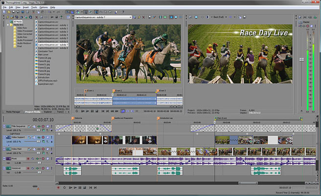 Vegas Pro 9 offers h.264 codec for video compression built in to this video editing program